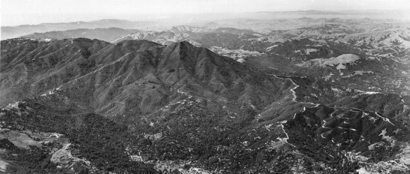 aerial Mt Tam ca 1960v2